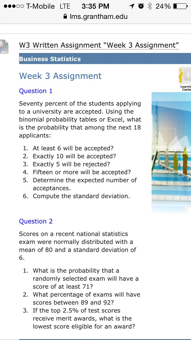 Business Statistics Assignment question, statistics homework help