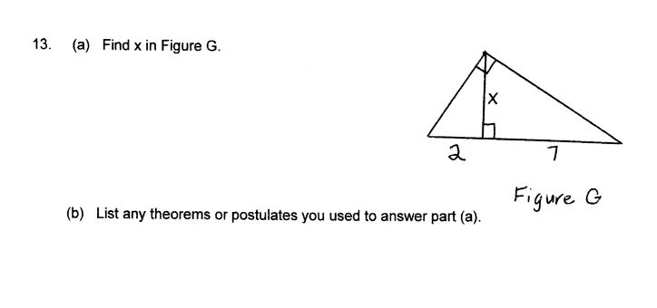Geometry, find x and list any theorems or