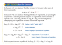 Properties of Logarithms Apply